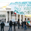 Stock Photo: .-forconi-protests to genoa, italy about serious economic crisis