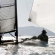 Stock Photo: Sailing boat during regatta