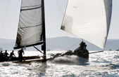 Sailing boat during a regatta — Stock Photo