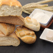 Bread shapes with some ingredients — Stock Photo