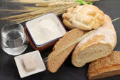 Bread ingredients — Stock Photo