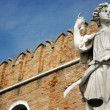 Justice statue at Venice naval dockyard — Stock Photo #39156521
