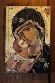Religious icon of Jesus and Virgin Mary — Stok fotoğraf