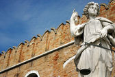 Justice statue at Venice naval dockyard — Photo