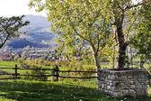 Tuscany country landscape at sunset — Stock Photo