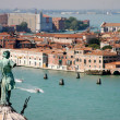 Stock Photo: Statue watching glimpse of Venice