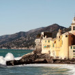Stock Photo: Camogli glimpse with rough sea
