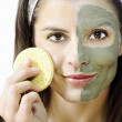 Stock Photo: Face beauty treatment