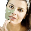 Stock Photo: Mud mask skin treatment