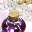 Lavender essential oil with bath salts — Stock Photo #42334135