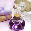 Lavender essential oil and bath salts — Stock Photo #42334139