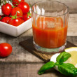 Stock Photo: Freedy tomato juice with lemon slice