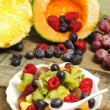 Stock Photo: Fruit salad with red fruits
