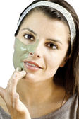 Грязевые маски кожа лечение — Стоковое фото
