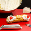 Stock Photo: Cannolo siciliano