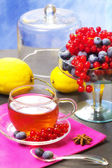 Red fruits tea — Stock Photo