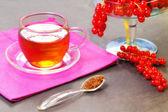 Rooibos tea with redcurrant — Stock Photo