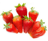 Fresh strawberry handful — Stock Photo