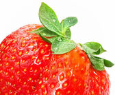 Detail of fresh juicy strawberry — Stock Photo