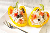 Stuffed grilled pepper — Stok fotoğraf