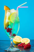 Iced fruit cocktail — Stock Photo
