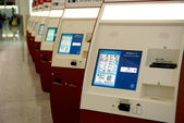 Self Check-in machines at Hong Kong airport — Стоковое фото