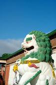 Tybetański kamienny lew — Zdjęcie stockowe