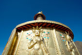 Tibetan Gilded Goddess — Stock Photo