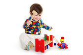Baby Child playing with toys — Stock Photo