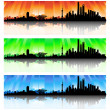Shanghai Skyline Set — 图库矢量图片