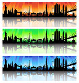 International skyline vector Set — Stock Vector