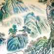 Chinese landscape painting — Stock Photo