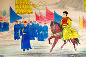 Chinese emperor painting — Stock Photo
