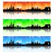 China Skyline Set — Stock Vector