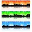 Beijing colorful Skyline Set — Stock Vector