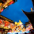 Chinese New Year celebration at the Yuyuan Garden in Shanghai, Year of the horse. — Stock Photo
