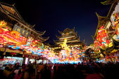 Chinese New Year at the Yuyuan Garden in Shanghai, Year of the horse. — Stockfoto