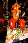 Square shaped lanterns — Stock Photo