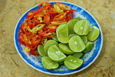 Peppers and Limes — Stock Photo