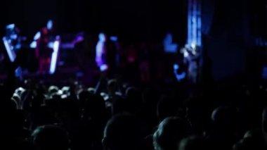 Multidão anônima em um concerto — Vídeo Stock