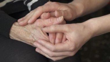 Comforting hands — Stock Video