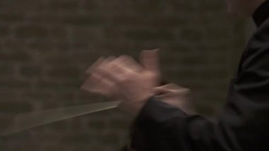 Conducting hands — Stock Video