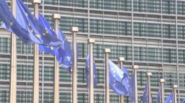 Slow motion of european flag — Stock Video