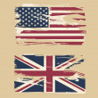 Grunge flags of USA and UK — Stock Vector #13359412
