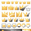 Crown symbol and icon set - Stock Vector