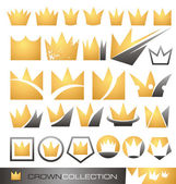 Crown symbol and icon set — Stok Vektör