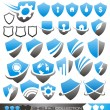 Stock Vector: Security shield - symbols, icons and logo concepts collection