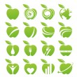 Apple icon set — Stock Vector