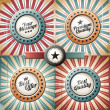 Retro and vintage backgrounds and labels — Stock Vector