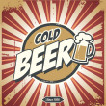 Vintage beer poster — Stock Vector